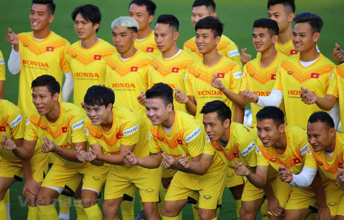 Đội tuyển Việt Nam tập trung chiều 6/12 tại Hà Nội. (Ảnh: Hiển Nguyễn/Vietnam+)