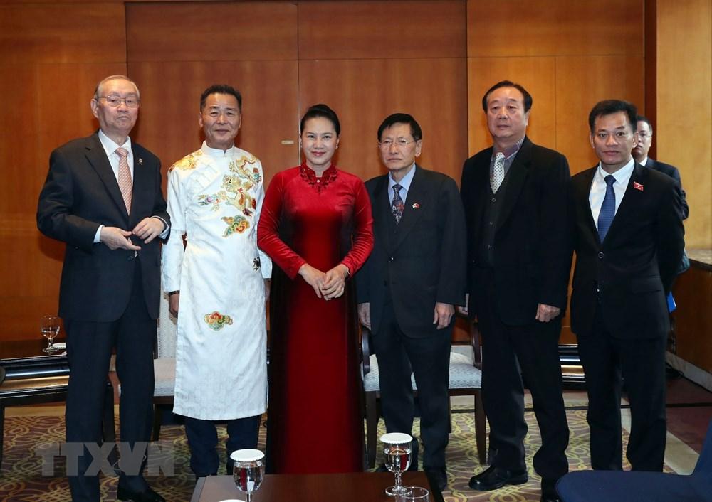 Chủ tịch Quốc hội Nguyễn Kim Thị Ngân tiếp các đại biểu dòng họ Lý đang sinh sống tại Hàn Quốc. Ảnh: Trọng Đức/TTXVN