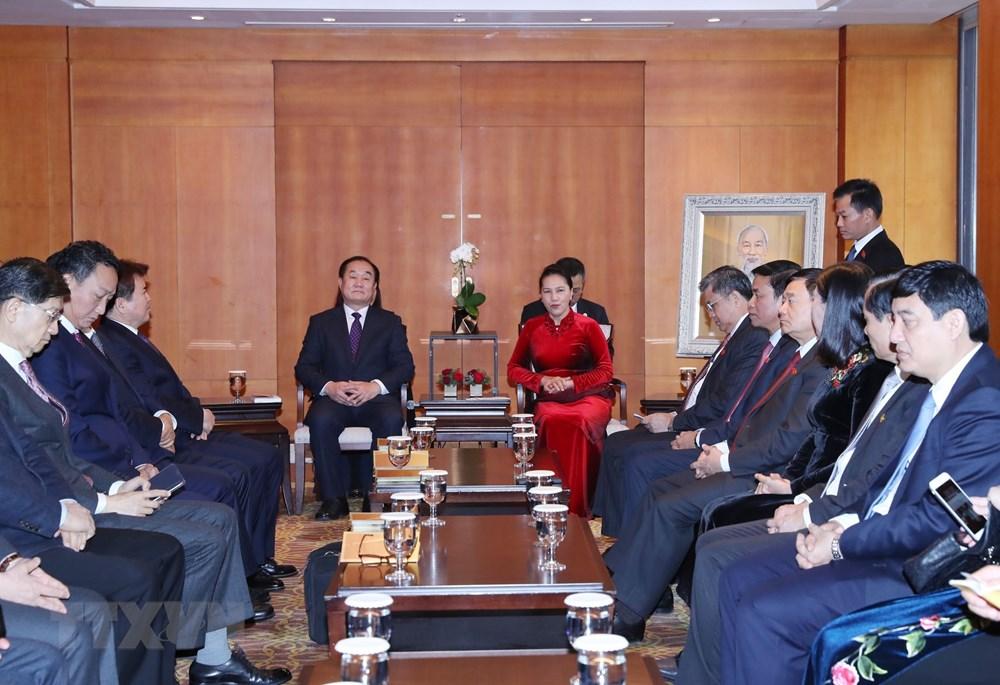 Chủ tịch Quốc hội Nguyễn Thị Kim Ngân tiếp các đại biểu Hội nghiên cứu Việt Nam học tại Hàn Quốc. Ảnh: Trọng Đức/TTXVN