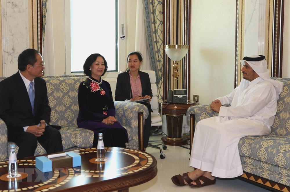 Trưởng Ban Dân vận Trung ương Trương Thị Mai thăm, làm việc tại Qatar - 1