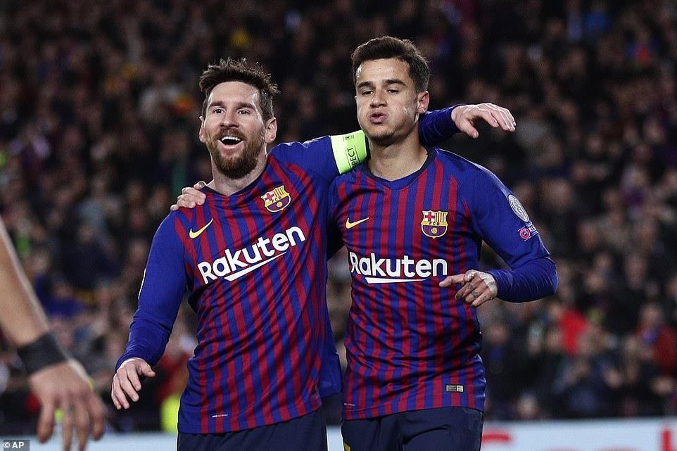 Bayern bị loại, Barcelona thắng đậm