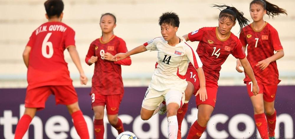 U16 nữ Việt Nam thua đậm U16 Triều Tiên ở bảng đấu 'tử thần' - 1