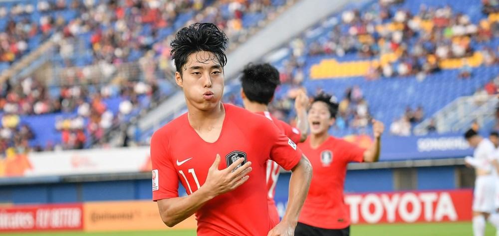 U23 Han Quoc tro thanh doi dau tien vao tu ket U23 chau A hinh anh 1