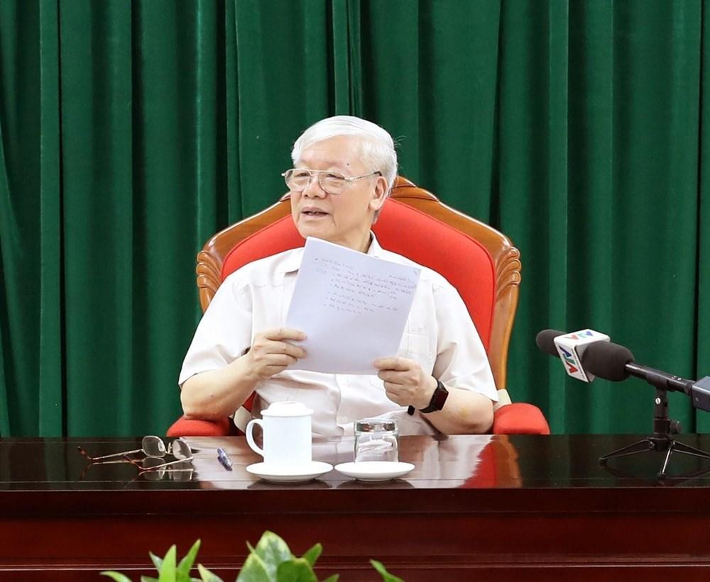 Tong Bi thu, Chu tich nuoc Nguyen Phu Trong chu tri hop lanh dao hinh anh 1