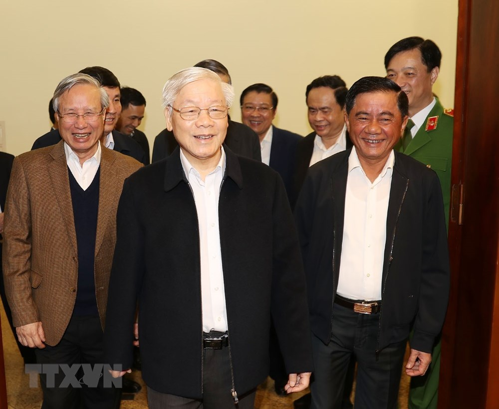 [ẢNH] Tổng Bí thư, Chủ tịch nước chủ trì phiên họp về phòng chống tham nhũng