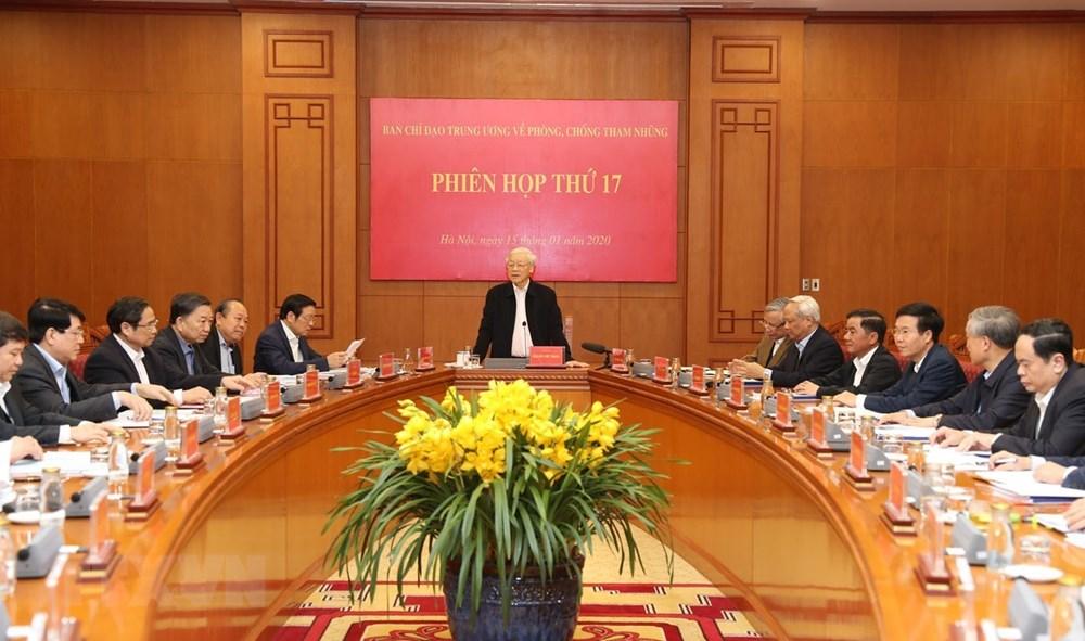 [ẢNH] Tổng Bí thư, Chủ tịch nước chủ trì phiên họp về phòng chống tham nhũng - 6