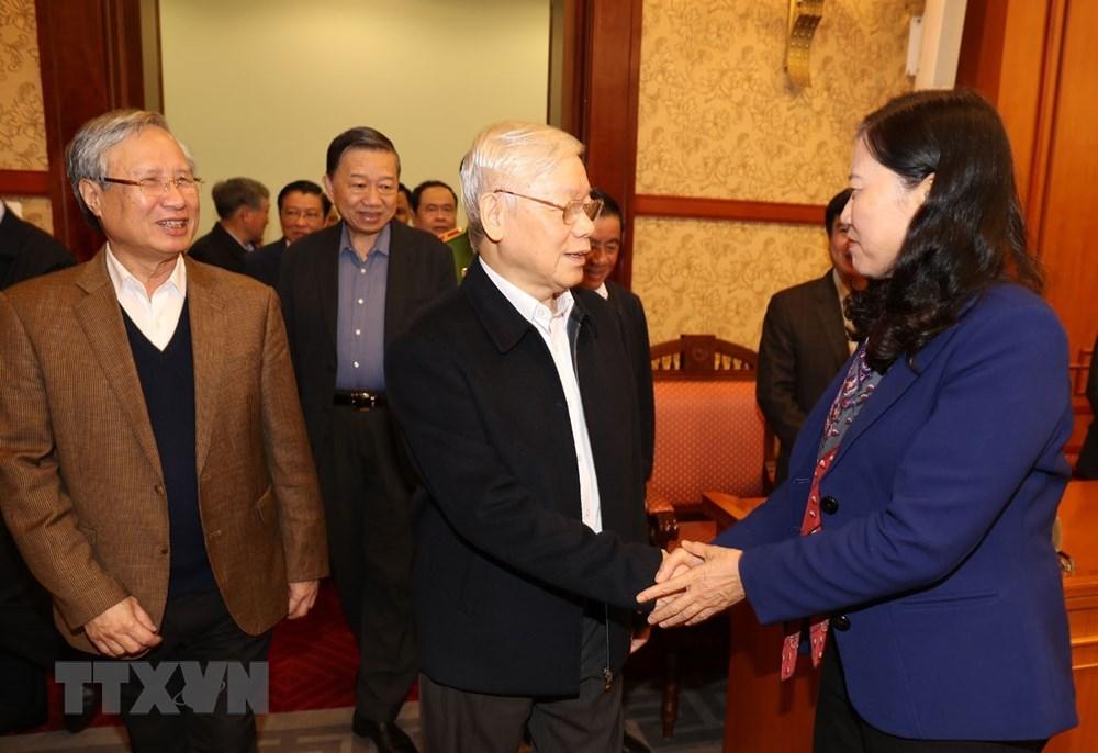 [ẢNH] Tổng Bí thư, Chủ tịch nước chủ trì phiên họp về phòng chống tham nhũng - 1