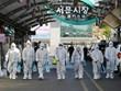 Hàn Quốc phun thuốc khử trùng tại các khu chợ ở thủ đô Seoul