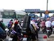 Trạm thu phí cầu Rạch Miễu xả trạm để giải tỏa ùn tắc trên Quốc lộ 60
