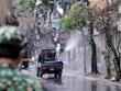 Phun khử khuẩn tất cả các phương tiện ra vào thành phố Hà Nội