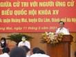 [Video] Bí thư Thành ủy Hà Nội Đinh Tiến Dũng tham gia vận động bầu cử