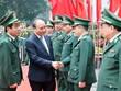 [Photo] Thủ tướng Nguyễn Xuân Phúc làm việc với Bộ đội Biên phòng