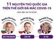 11 nguyên thủ quốc gia trên thế giới đã mắc COVID-19