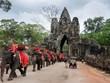 Campuchia cấm sử dụng voi phục vụ du khách tại quần thể đền Angkor Wat