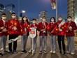 Video đoàn thể thao Việt Nam diễu hành tại lễ khai mạc Olympic Tokyo