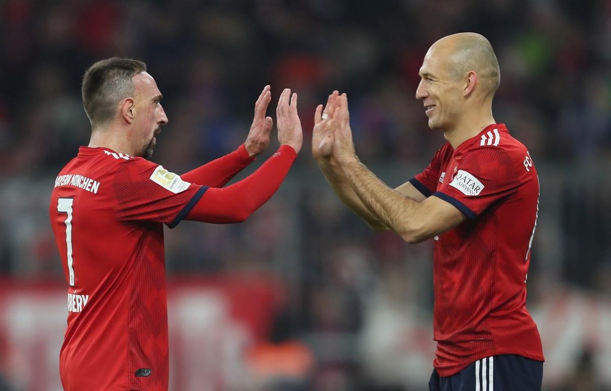 Robben và Ribery. (Nguồn: Getty Images)