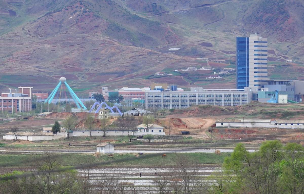 Toàn cảnh Khu công nghiệp chung Kaesong giữa hai miền Triều Tiên. (Ảnh: AFP/TTXVN)