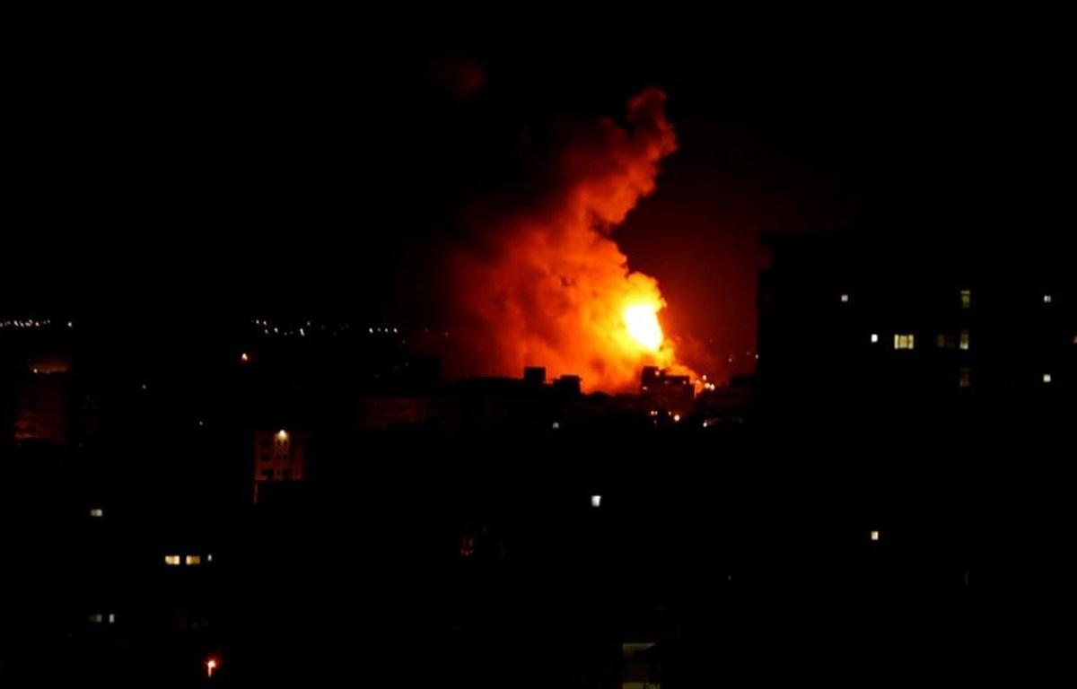 Khu vực mà quân đội Israel không kích. (Nguồn: Reuters)