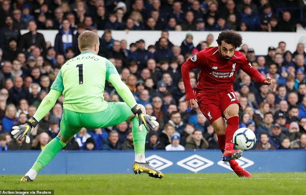 Salah và đồng đội bất lực trước Jordan Pickford.
