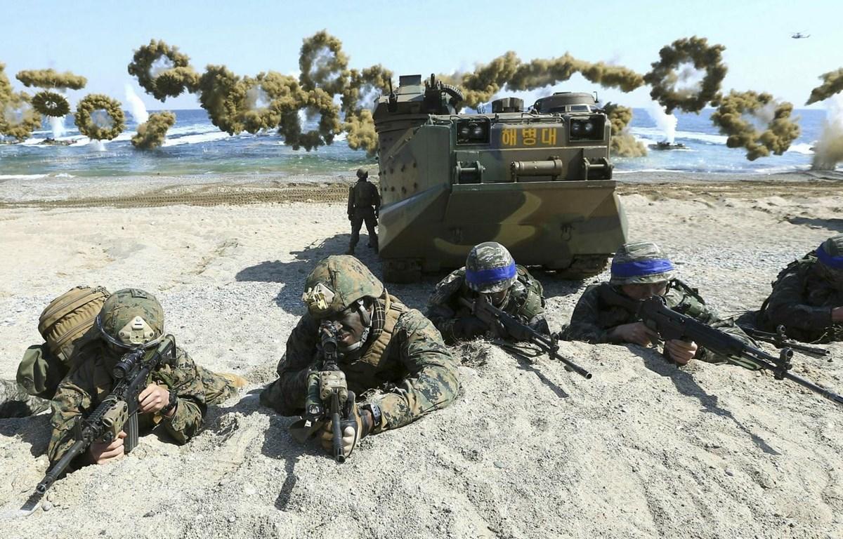 Một cuộc tập trận chung giữa Mỹ và Hàn Quốc. (Nguồn: AP)