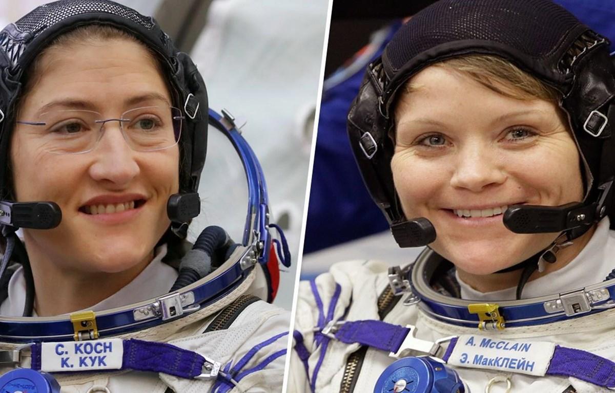 Hai nhà du hành Christina Koch và Anne McClain. (Nguồn: AP)