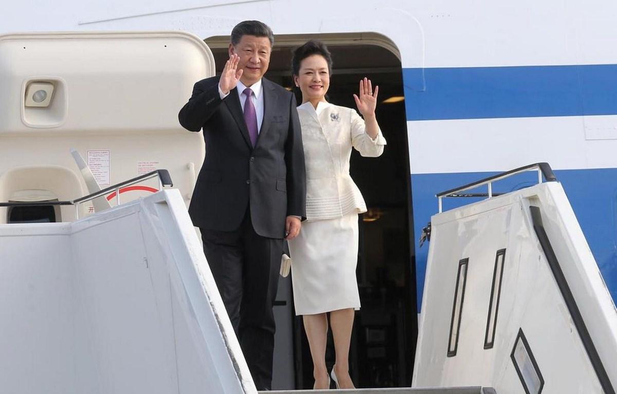 Chủ tịch Trung Quốc Tập Cận Bình và phu nhân. (Nguồn: Xinhua)