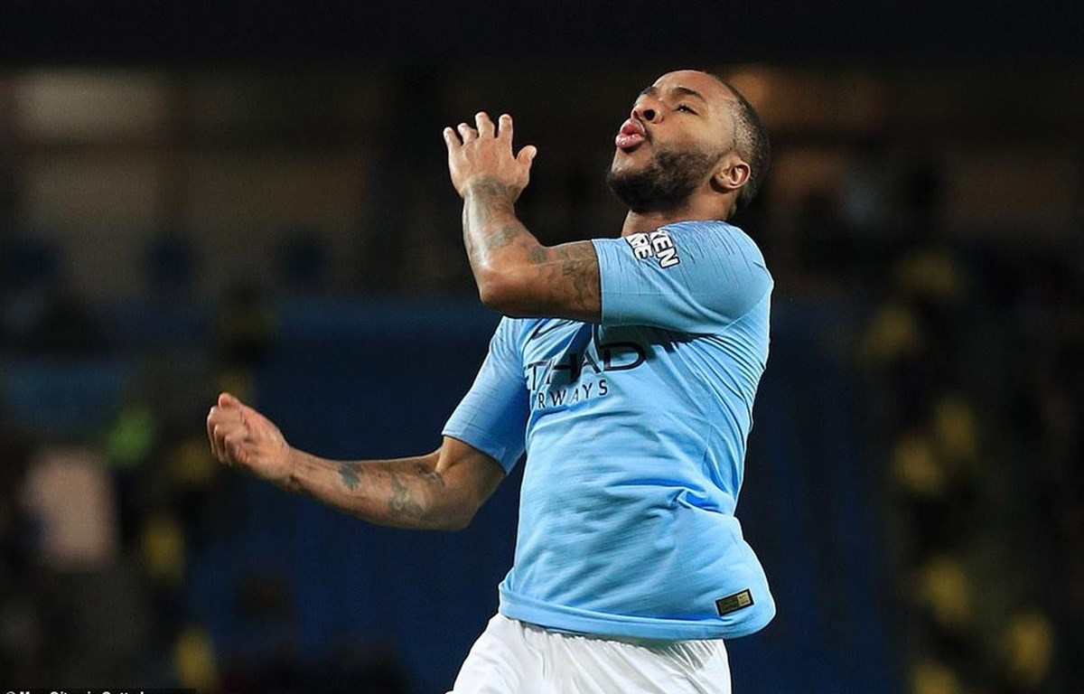 Sterling mang chiến thắng về cho Manchester City. (Nguồn: Getty Images)