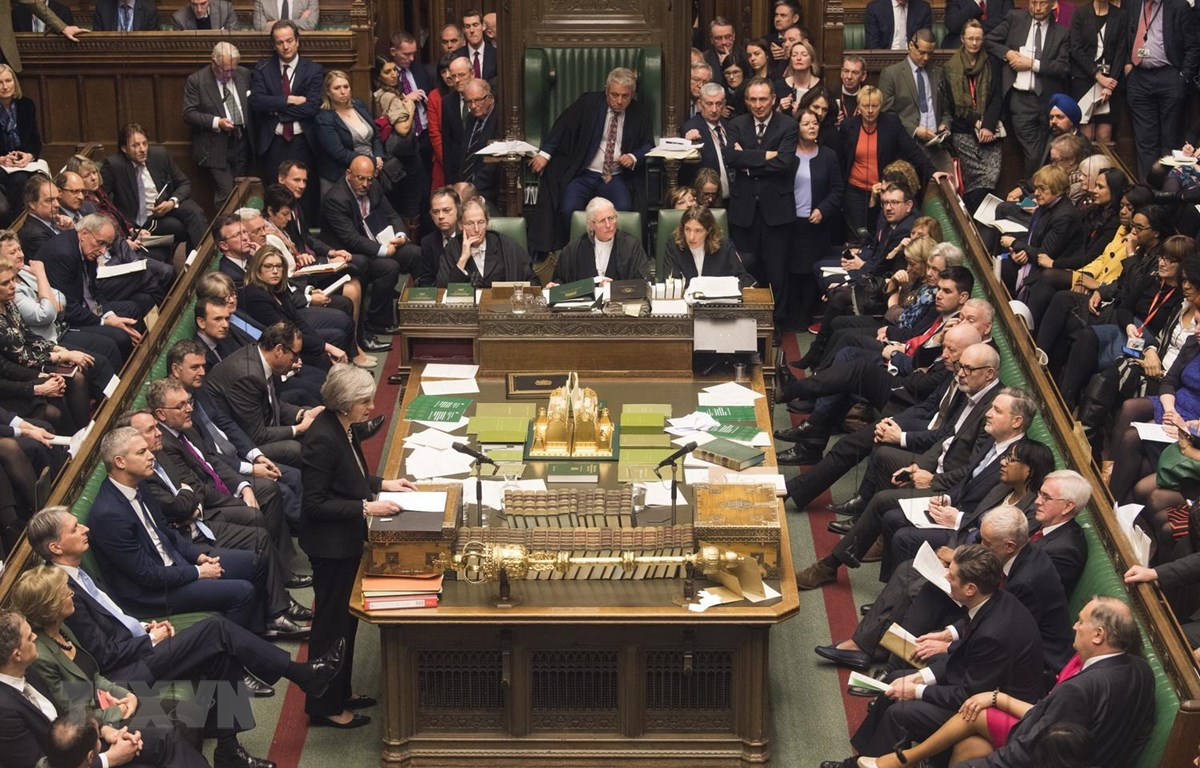 Toàn cảnh phiên bỏ phiếu của Hạ viện về thỏa thuận sửa đổi Brexit ở London, ngày 29/1/2019. (Ảnh: THX/TTXVN)