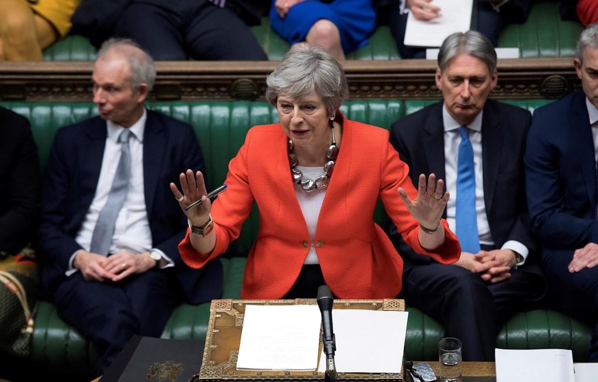 Hạ Viện Anh đã bỏ phiếu bác lại dự thảo thỏa thuận Brexit sửa đổi lần thứ hai của Thủ tướng May. (Ảnh: AFP/TTXVN)