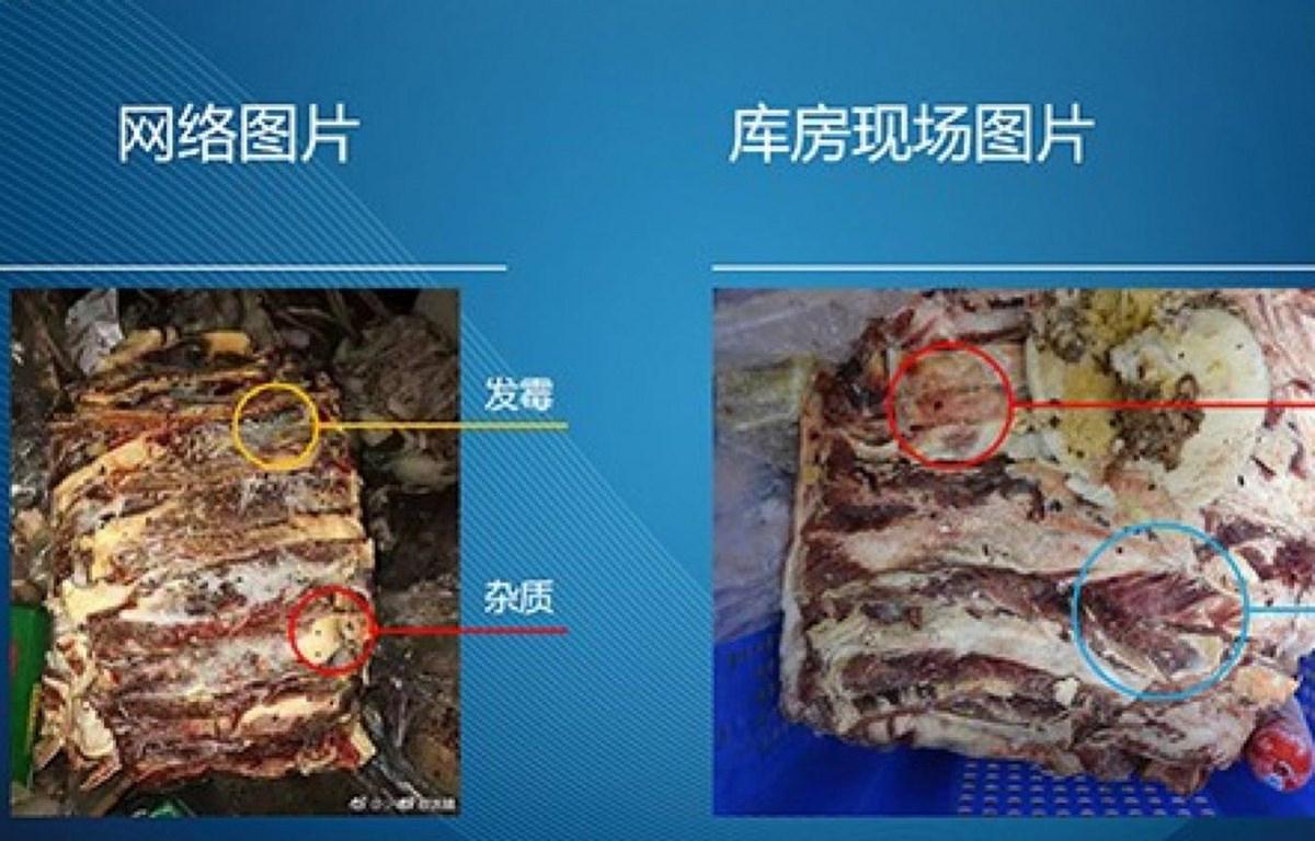 Hình ảnh thực phẩm mốc bị phát tán trên mạng. (Nguồn: Weibo)