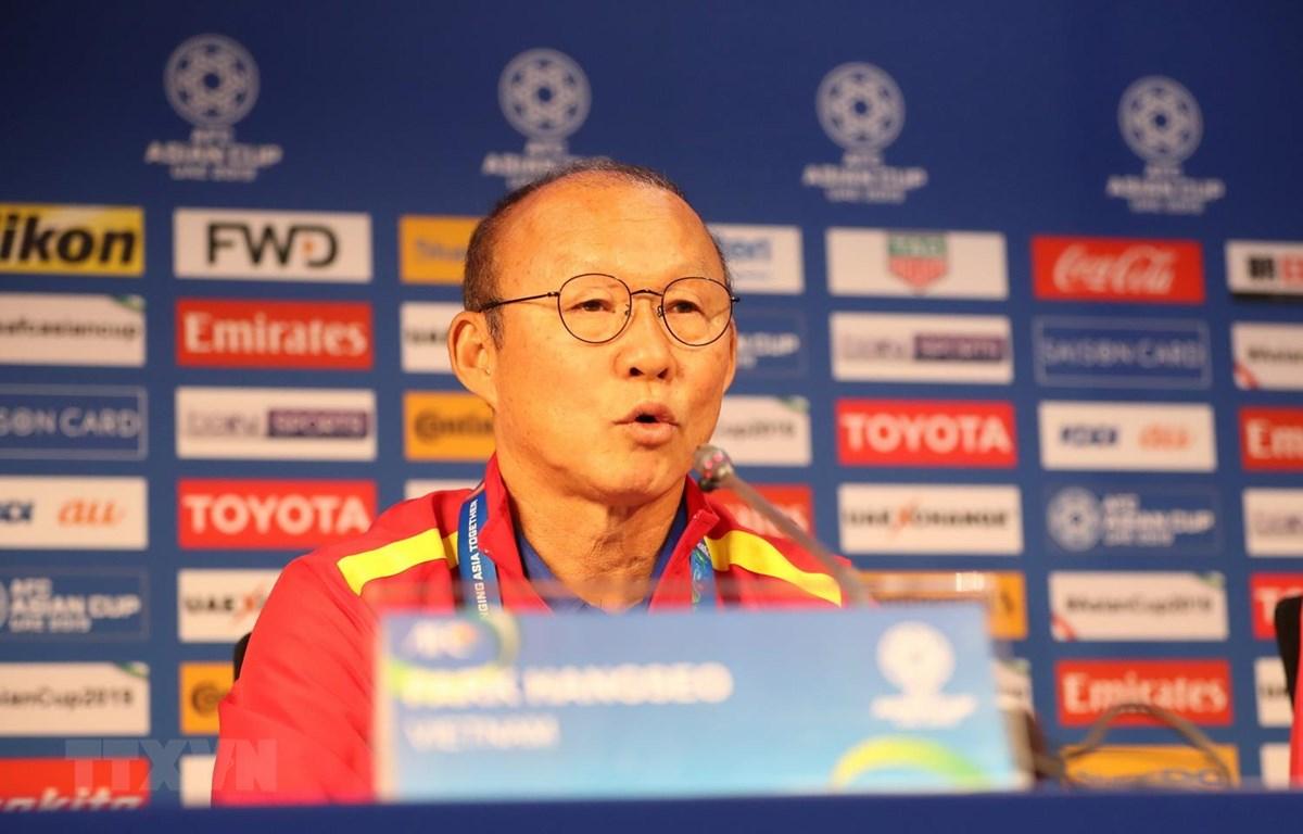 Huấn luyện viên Park Hang-seo. (Ảnh: Hoàng Linh/TTXVN)