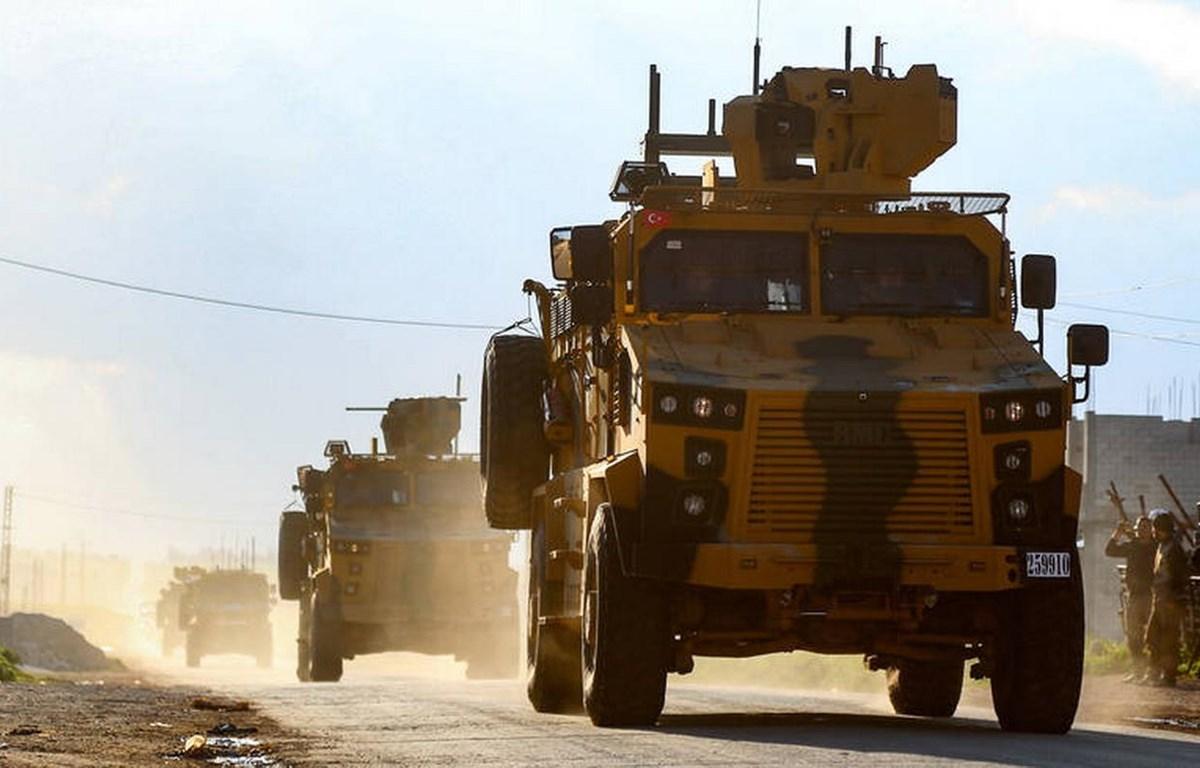 Xe chở binh sỹ Thổ Nhĩ Kỳ. (Nguồn: Getty Images)