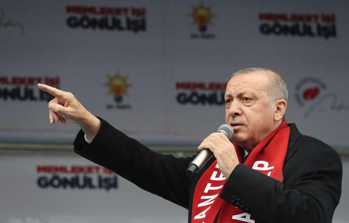 Tổng thống Thổ Nhĩ Kỳ Tayyip Erdogan. (Nguồn: AP)