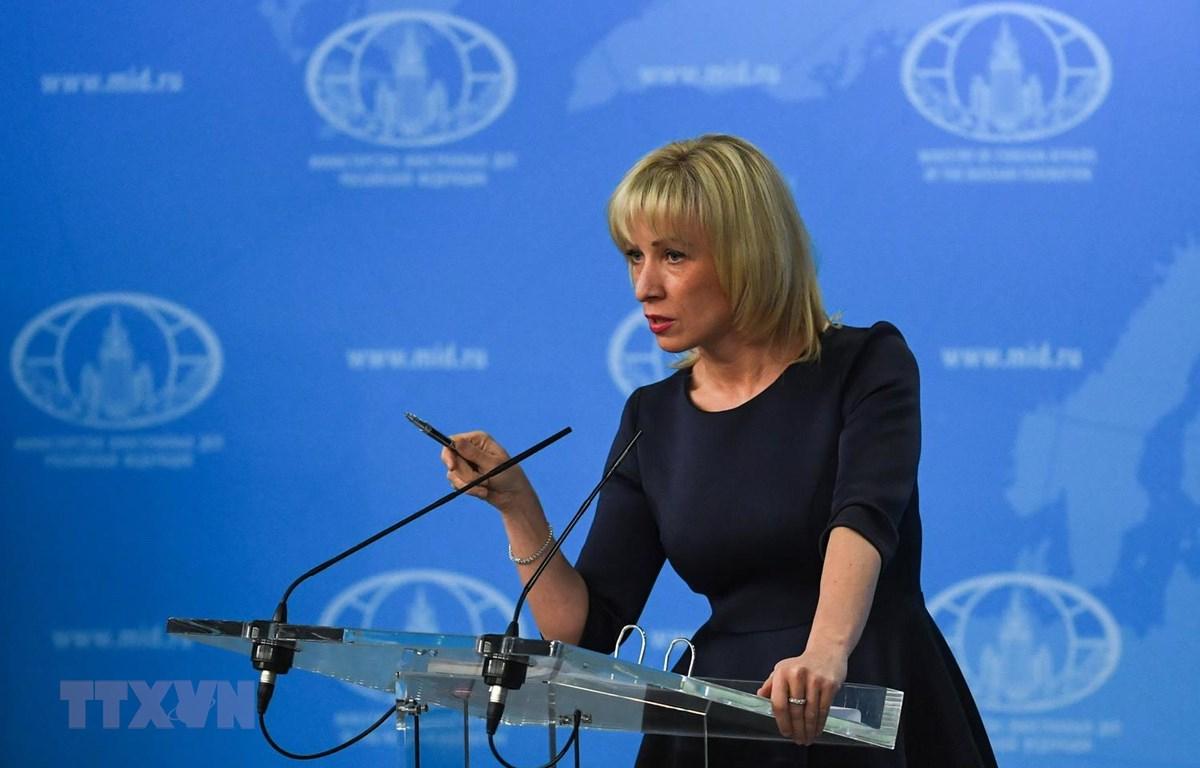 Người phát ngôn Bộ Ngoại giao Nga Maria Zakharova. (Ảnh: AFP/TTXVN)