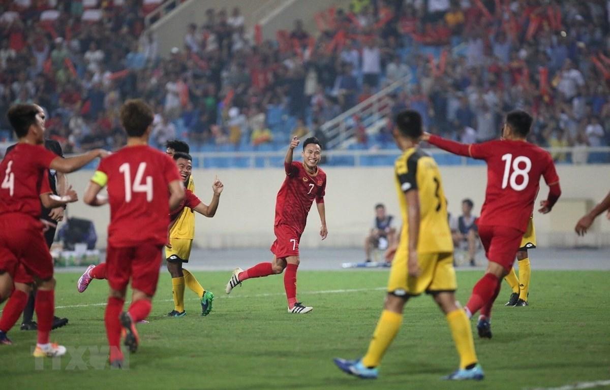 U23 Việt Nam thắng đậm trước U23 Brunei. (Ảnh: Trọng Đạt/TTXVN)