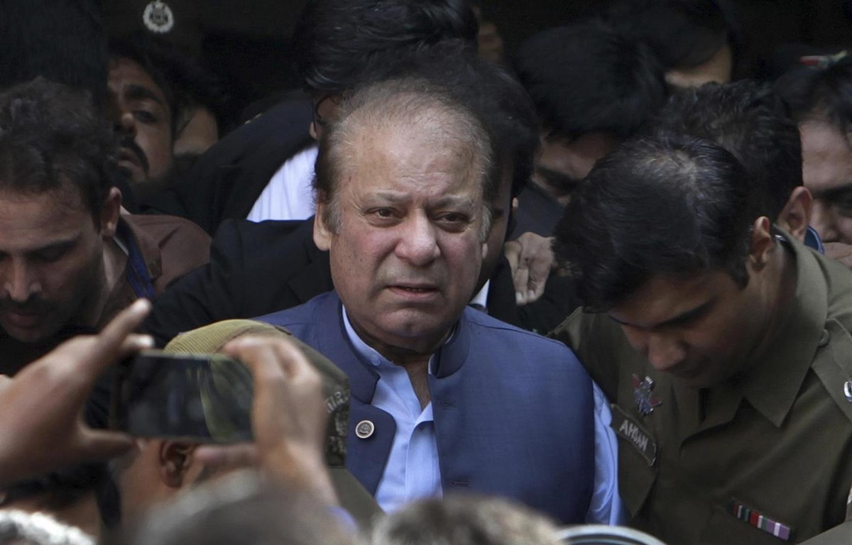 Cựu Thủ tướng Pakistan Nawaz Sharif. (Nguồn: AFP)