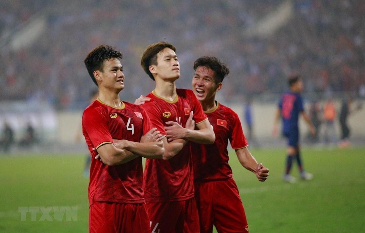 U23 Việt Nam hiên ngang giành vé tham dự vòng chung kết U23 châu Á 2020. (Ảnh: Trọng Đạt/TTXVN)