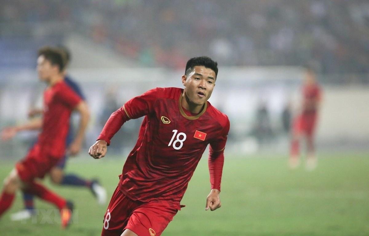 Hà Đức Chinh mở tỷ số cho U23 Việt Nam. (Ảnh: Trọng Đạt/TTXVN)