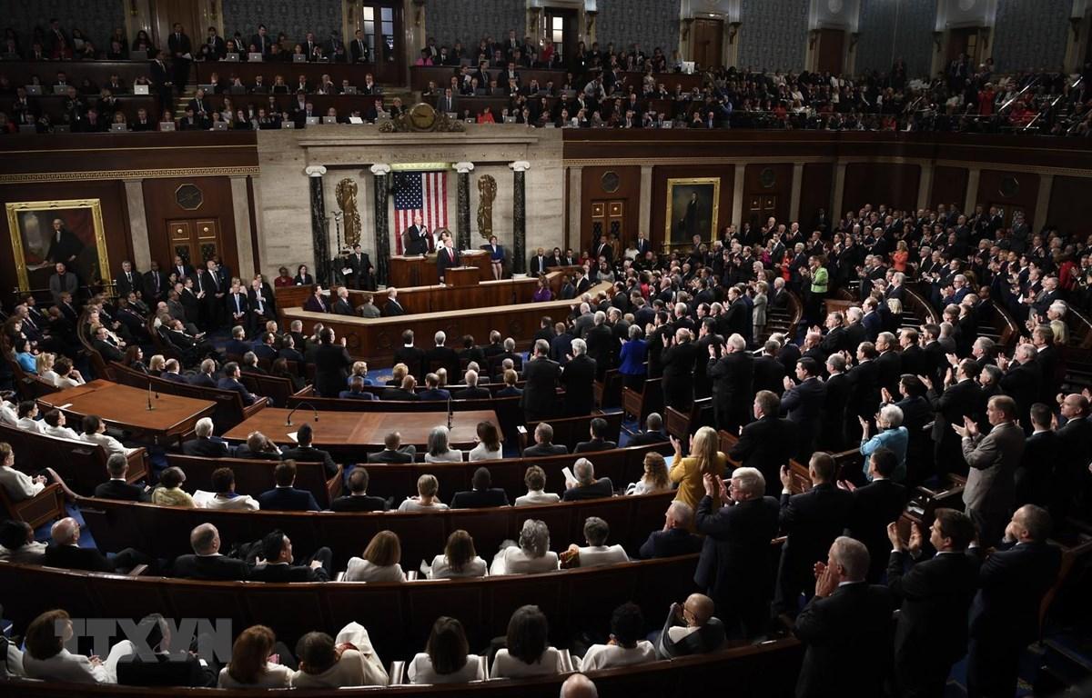 Toàn cảnh một phiên họp của Quốc hội Mỹ tại Washington DC. (Ảnh: THX/TTXVN)