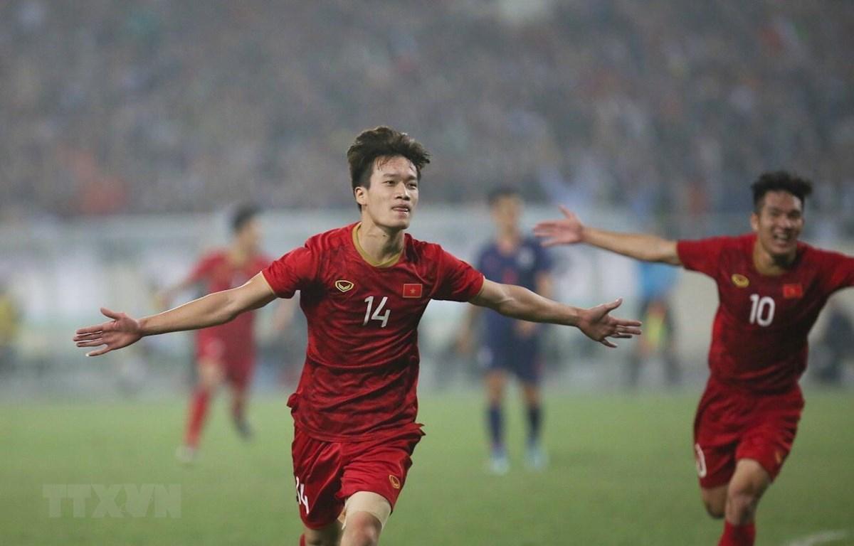 U23 Việt Nam thẳng tiến vào vòng chung kết U23 châu Á 2020 với tư cách nhất bảng. (Ảnh: Trọng Đạt/TTXVN)