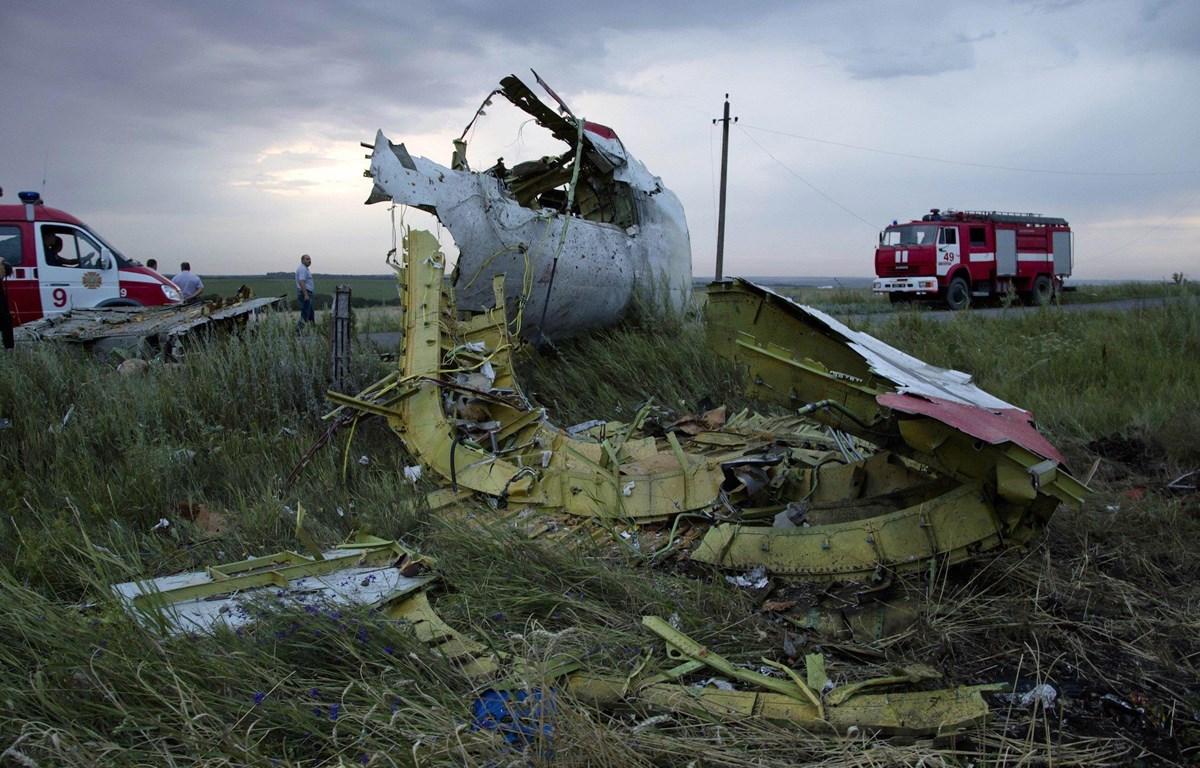 Hiện trường vụ máy bay MH17. (Nguồn: The Defense Post)