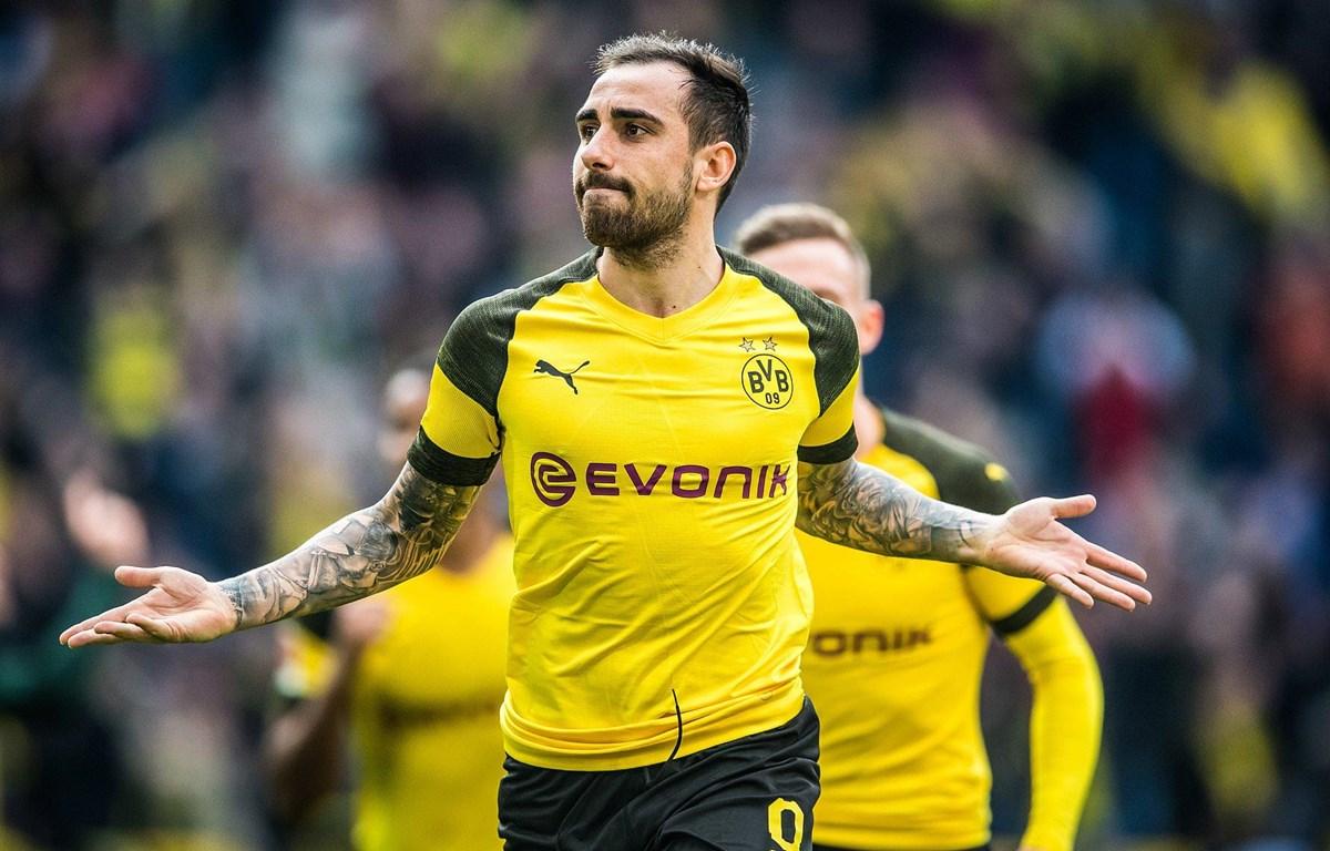 Paco Alcacer tỏa sáng giúp Dortmund đòi lại ngôi đầu. (Nguồn: Getty Images)