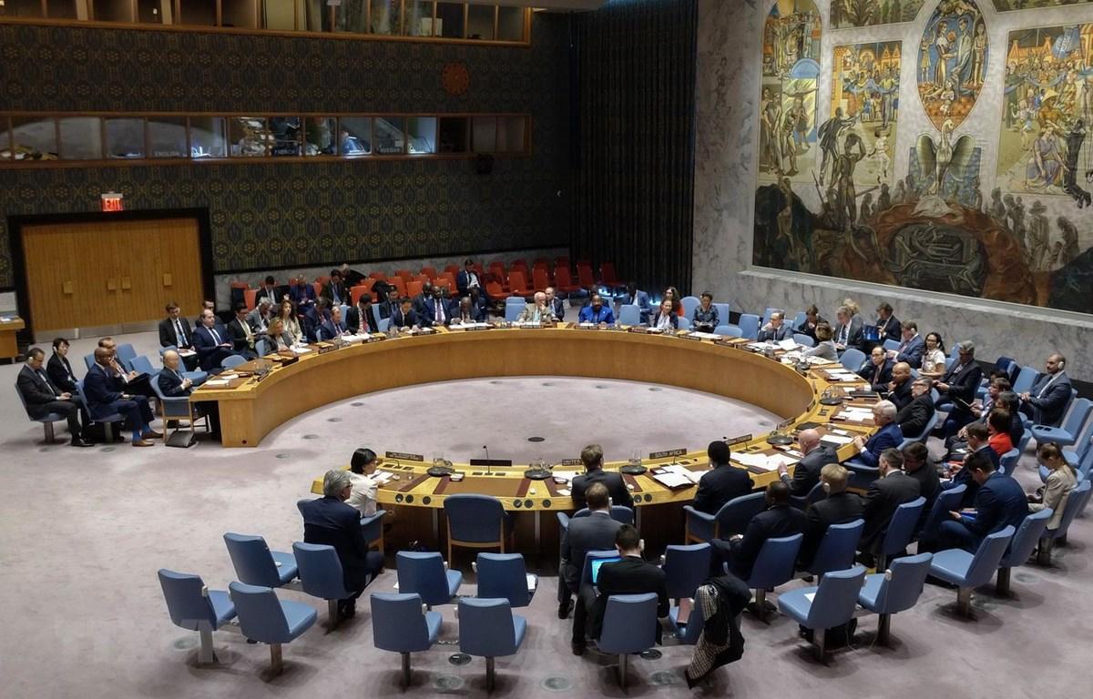 Toàn cảnh một cuộc họp Hội đồng bảo an Liên hợp quốc. (Ảnh: THX/TTXVN)