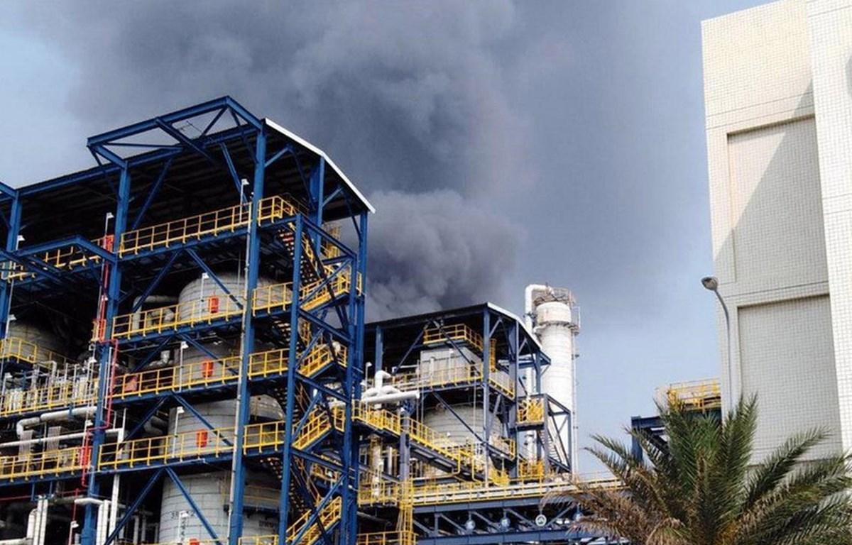 Khói đen bốc lên sau khi xảy ra vụ nổ. (Nguồn: focustaiwan.tw)