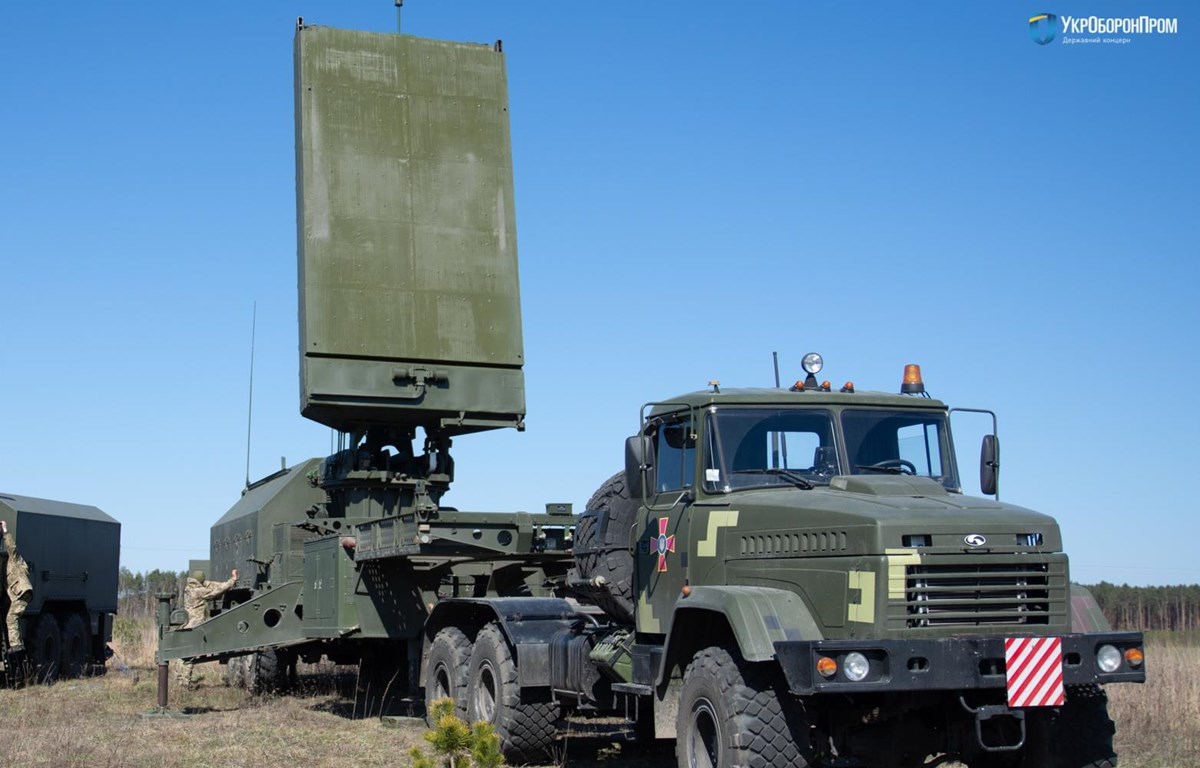 Radar 1L220UK chống pháo kích. (Nguồn: 112.ua)
