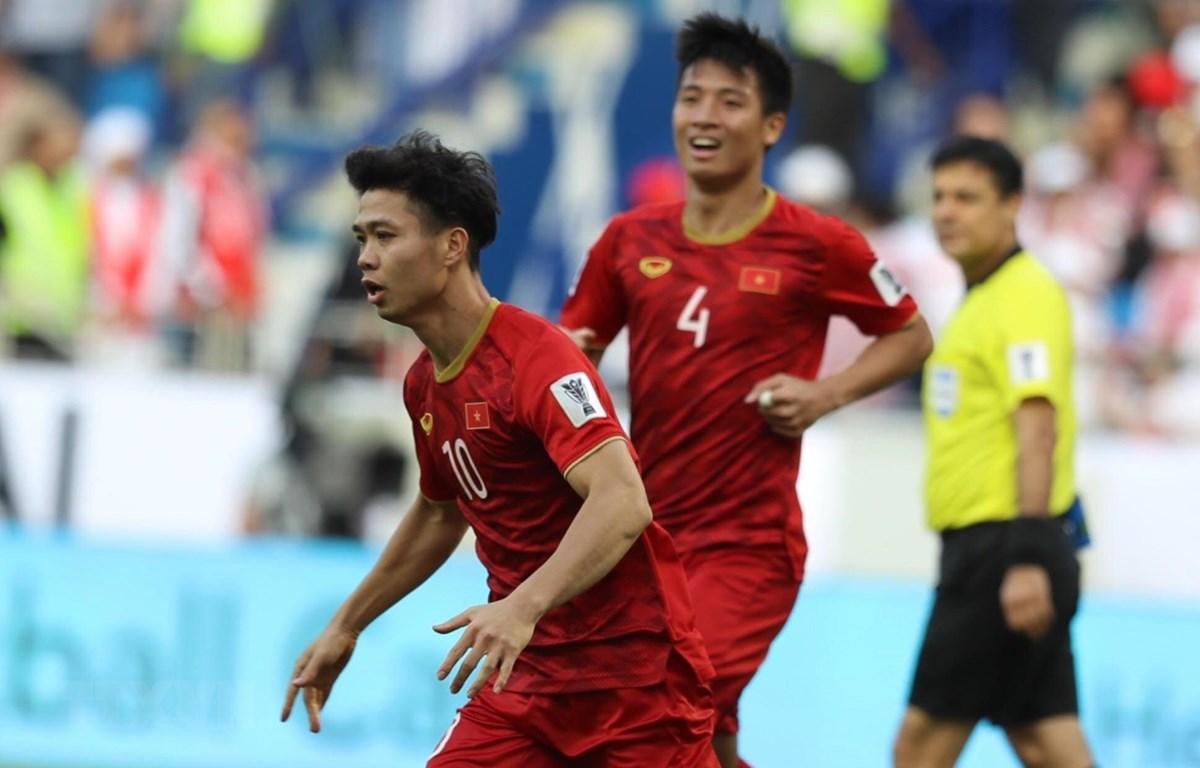 Công Phượng và tuyển Việt Nam sẽ đối đầu Cuaracao ở King's Cup 2019. (Ảnh: Hoàng Linh/TTXVN)