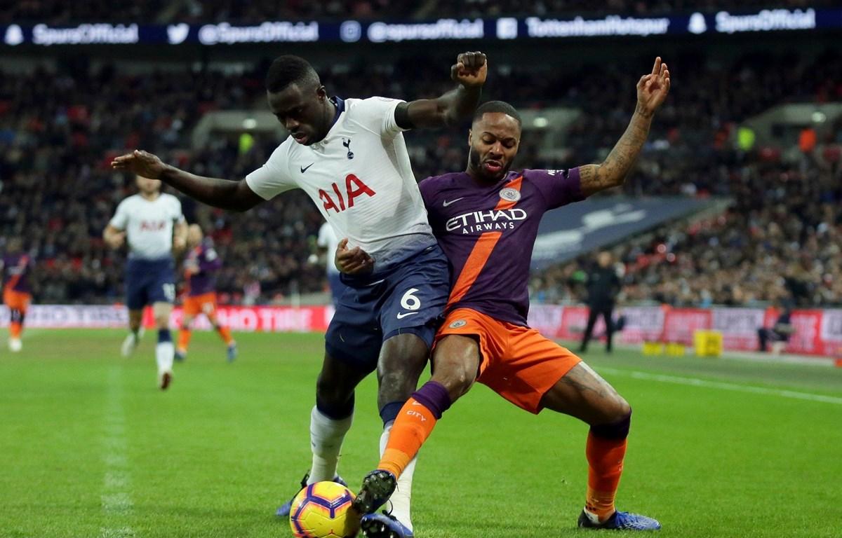 Sterling (áo tím) liệu có giúp Man City ngược dòng trước Tottenham? (Nguồn: Getty Images)