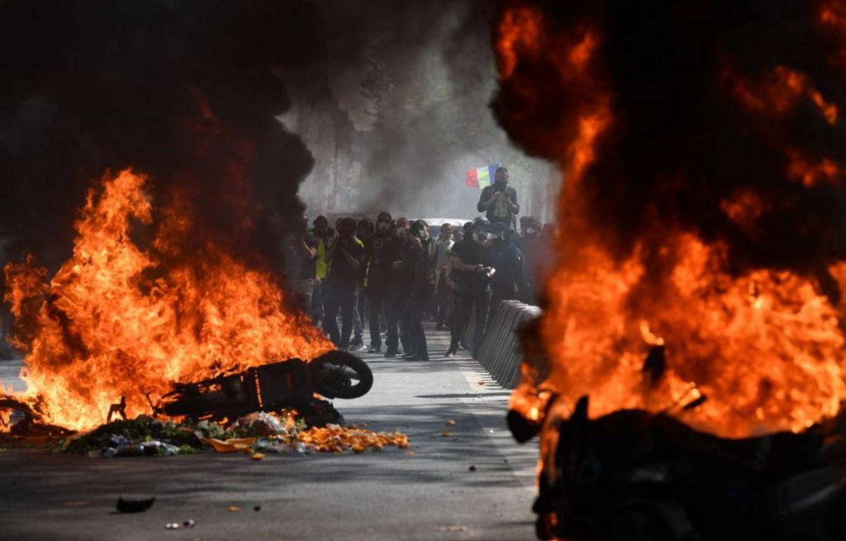 Biểu tình thành bạo động ở Pháp. (Nguồn: Getty Images)