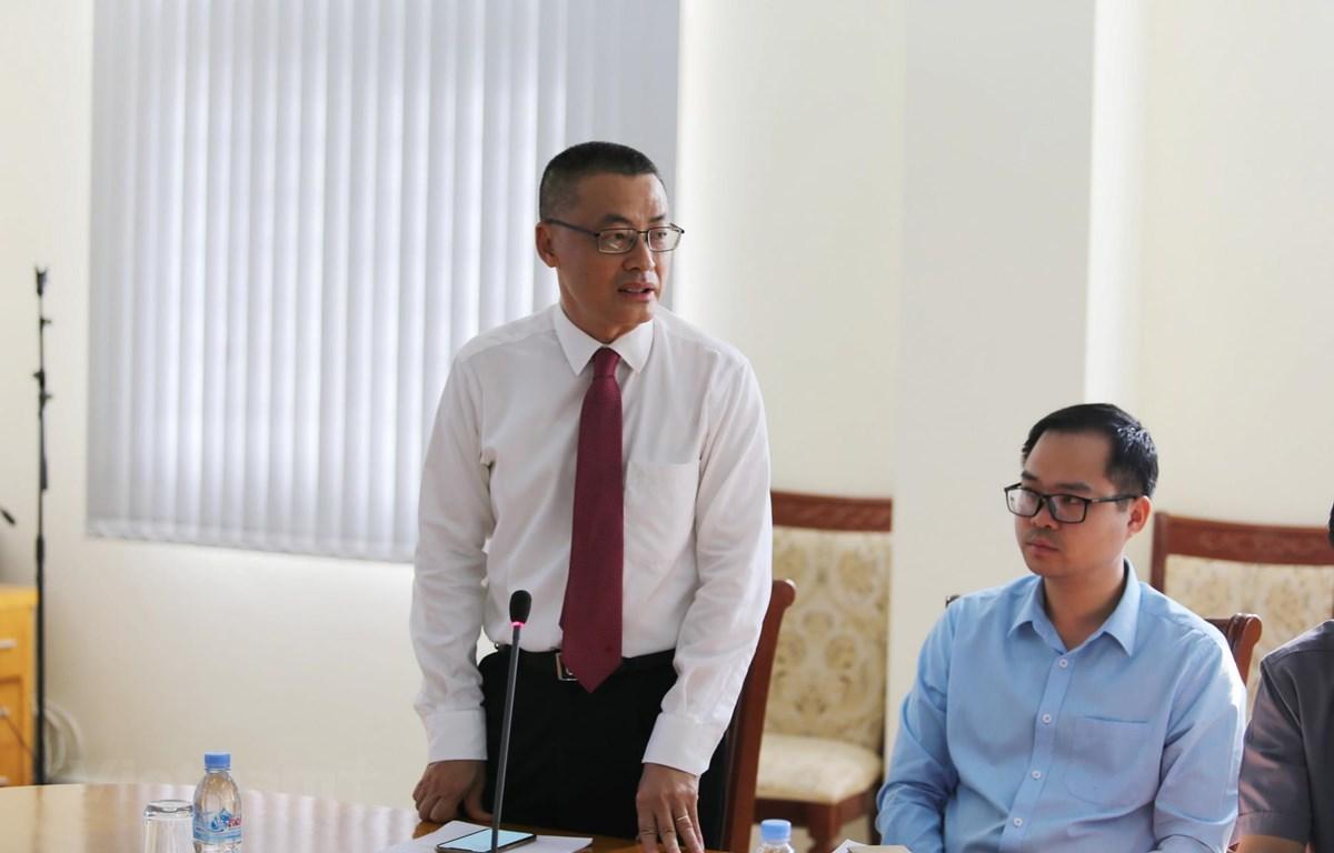Đại sứ Việt Nam tại Vương quốc Campuchia Vũ Quang Minh phát biểu. (Ảnh: Minh Hưng/Vietnam+)