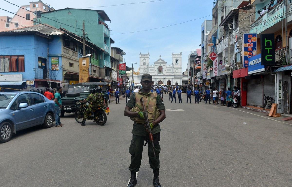 An ninh thắt chặt ở Sri Lanka. (Nguồn: AP)